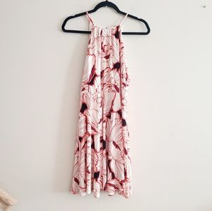 Ann Taylor Petite Cream Floral Dress MP